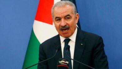 صورة اشتية يبحث مع السفير العُماني إعمار غزة وتعزيز التبادل التجاري