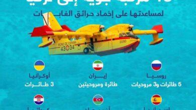 صورة تركيا: 6 دول أرسلت 18 مركبة جوية لإخماد الحرائق