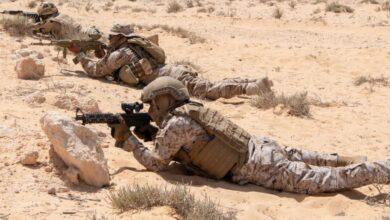 صورة اختتام مناورات عسكرية كبيرة في مصر بمشاركة 3 دول خليجية