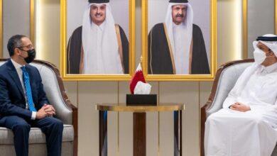 صورة أول سفير لمصر بقطر بعد المصالحة يسلم أوراق اعتماده
