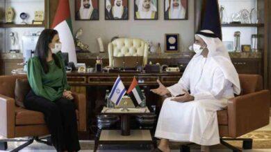 صورة وزيرا داخلية الإمارات وإسرائيل… يبحثان التعاون الأمني