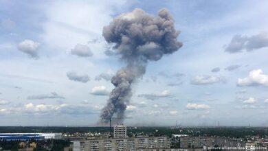 صورة 7 قتلى و 9 مفقودين في انفجار مصنع البارود الروسي