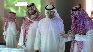 صورة محمد بن زايد يزور الجناح السعودي في إكسبو 2020 دبي