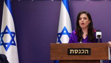 صورة وزيرة إسرائيلية من الإمارات: الدولة الفلسطينية لن تقام
