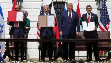 صورة حصيلة عام من إعلان التطبيع بين الإمارات والبحرين وإسرائيل