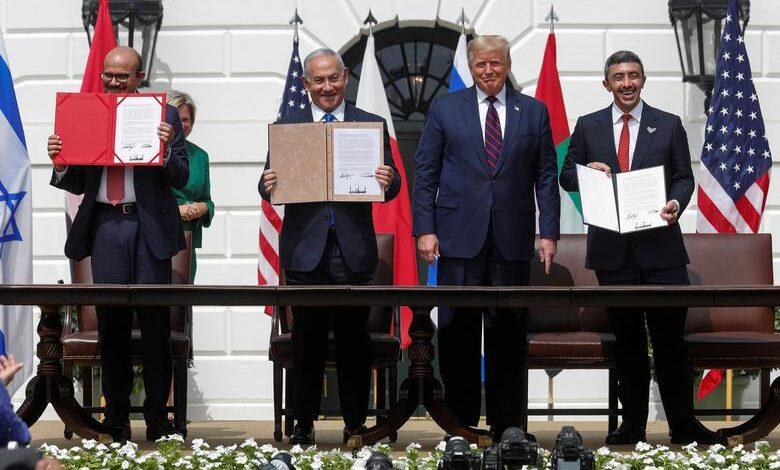 حصيلة عام من إعلان التطبيع بين الإمارات والبحرين وإسرائيل